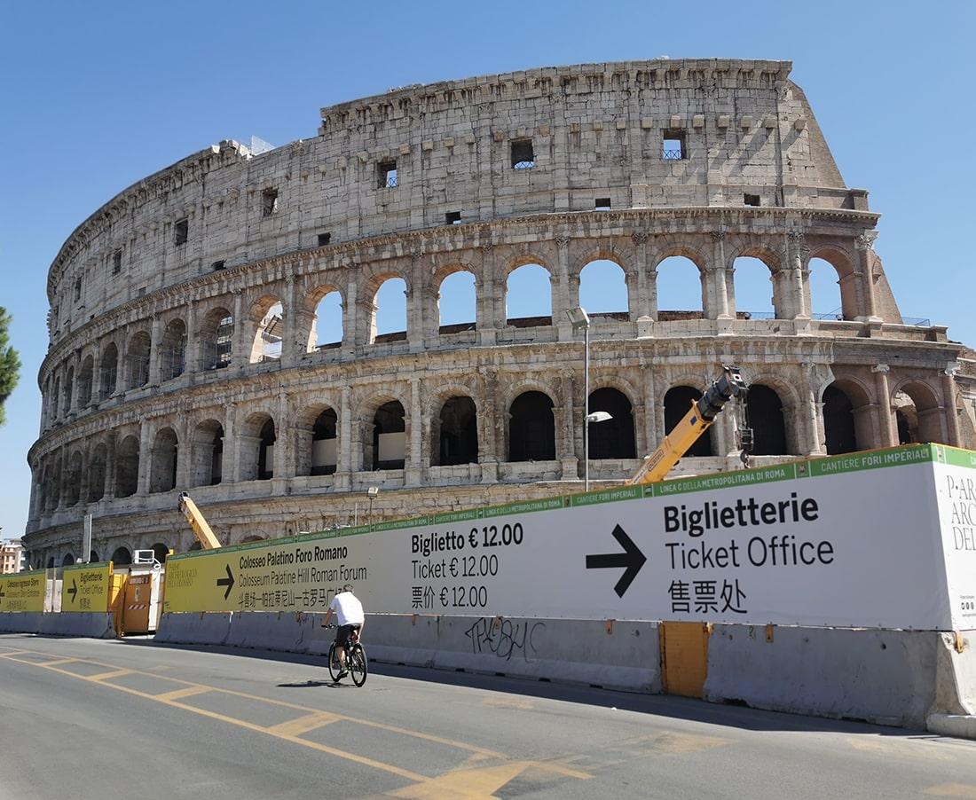 Decorazione del recinto attorno ai Fori Imperiali, Roma