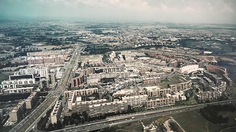 Una vista di Colli Aniene negli anni Ottanta. Gli anni in cui nasce Sogester