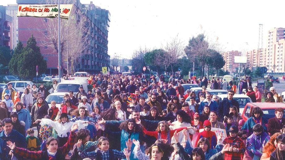Una foto del Carnevale di Rio Aniene, che si è tenuto per diversi anni nel quartiere di Colli Aniene