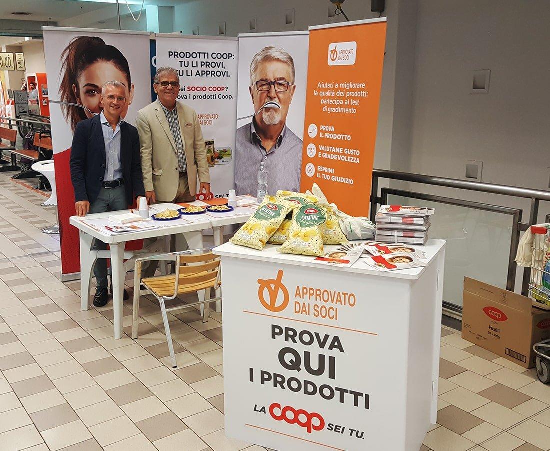 Sogester è partner di Coop e organizza eventi, allestisce stand e si fa carico della promozione di iniziative di marketing territoriale