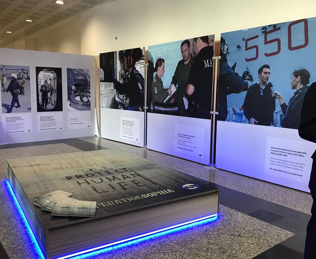 Dal 2018 Sogester organizza e allestisce mostre per eventi a livello internazionale all'interno dell'Aereonautica Militare presso l'Aeroporto di Centocelle.