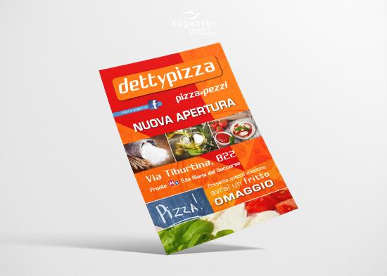Volantini Locandine Flyer - Detty Pizza